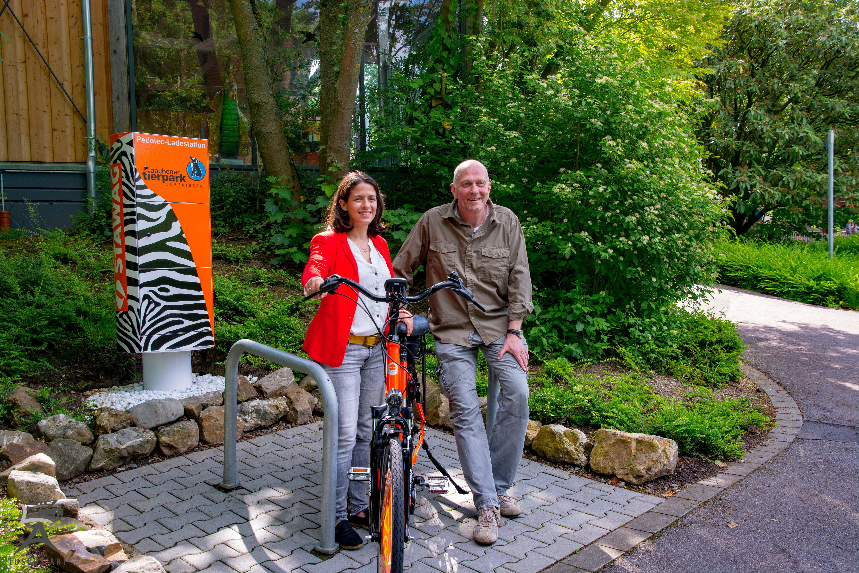 Ladestation für Pedelec im Tierpark