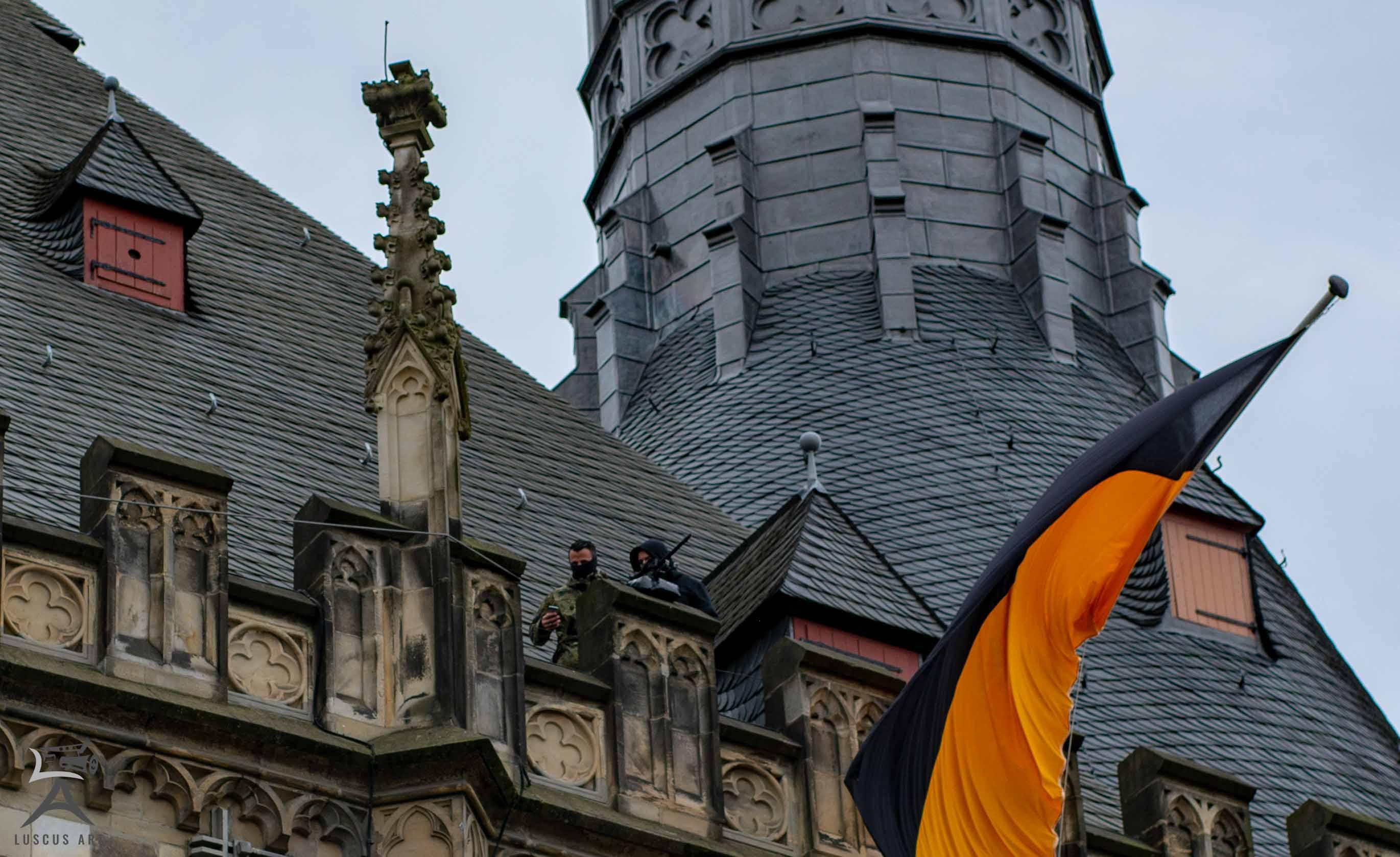 Karlspreis 2018 Rathaus Scharfschützen