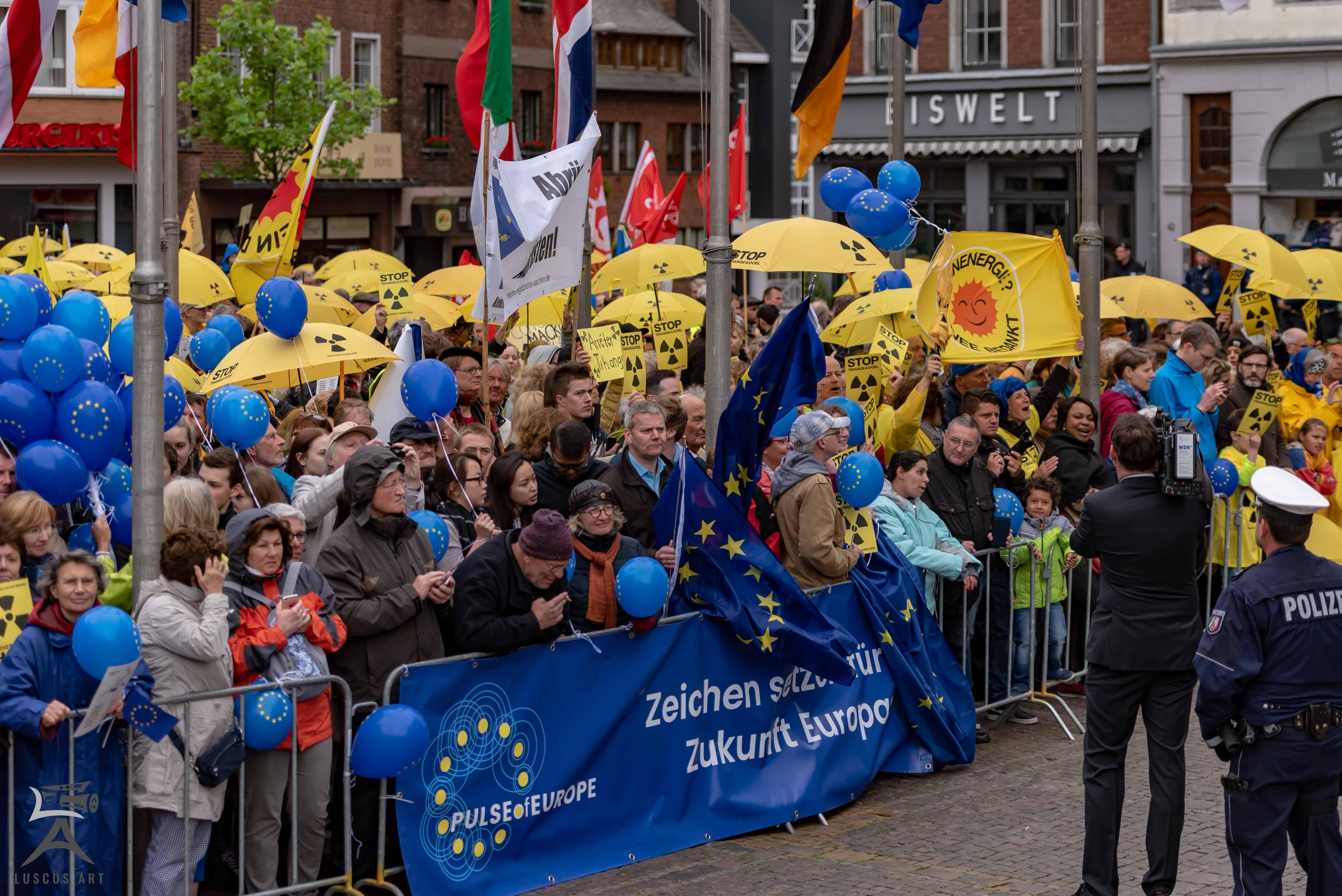 Demonstranten Karlspreis 2018