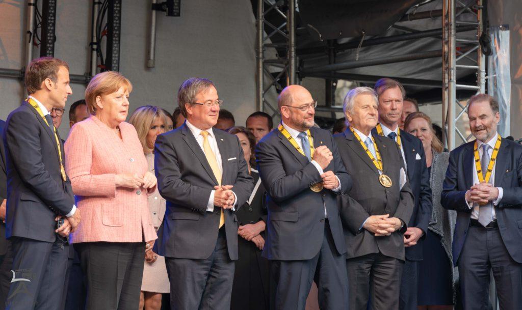 Karlspreis 2018 Bühne Katschhof