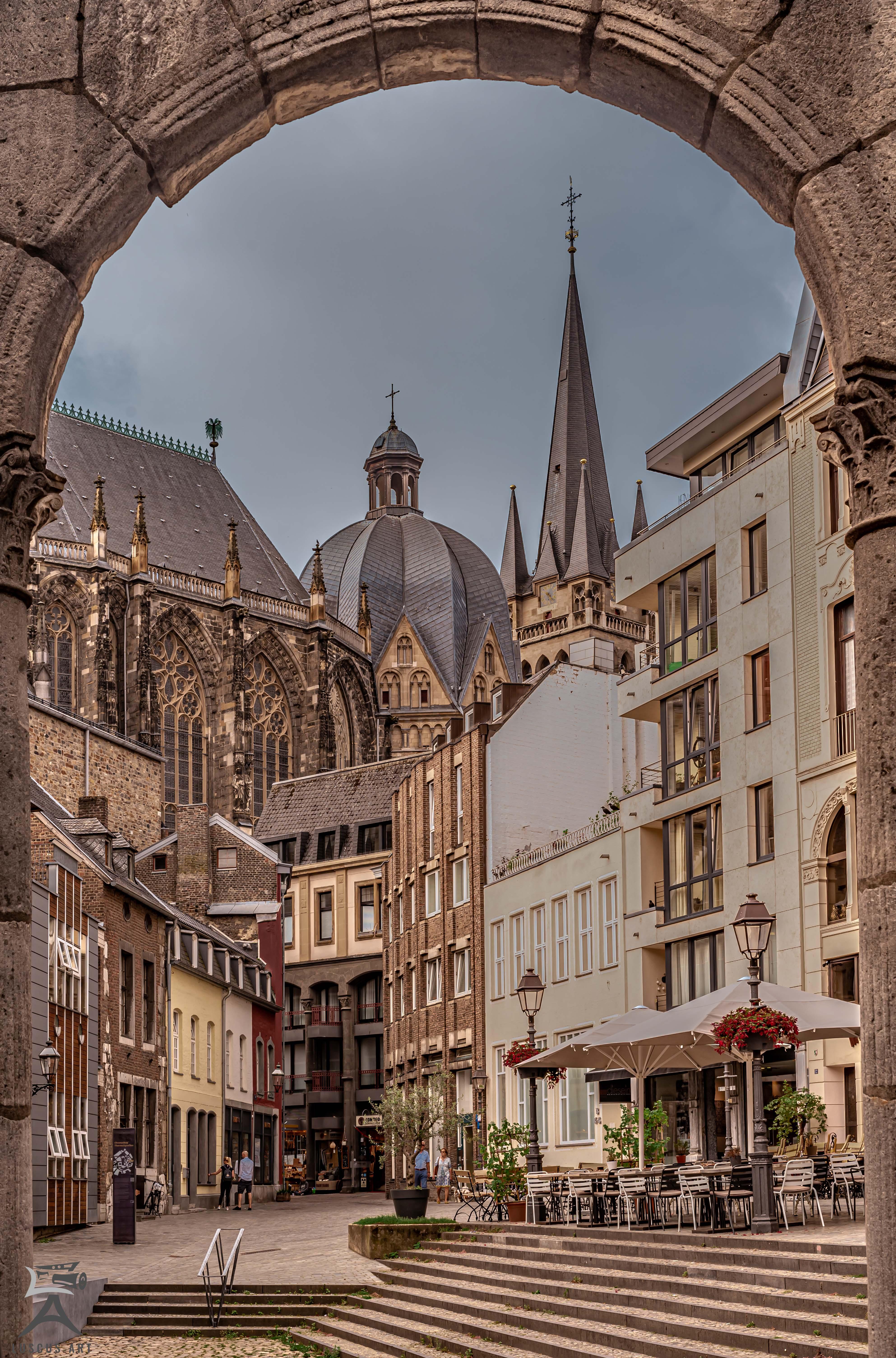 Aachen - Blick auf den Dom