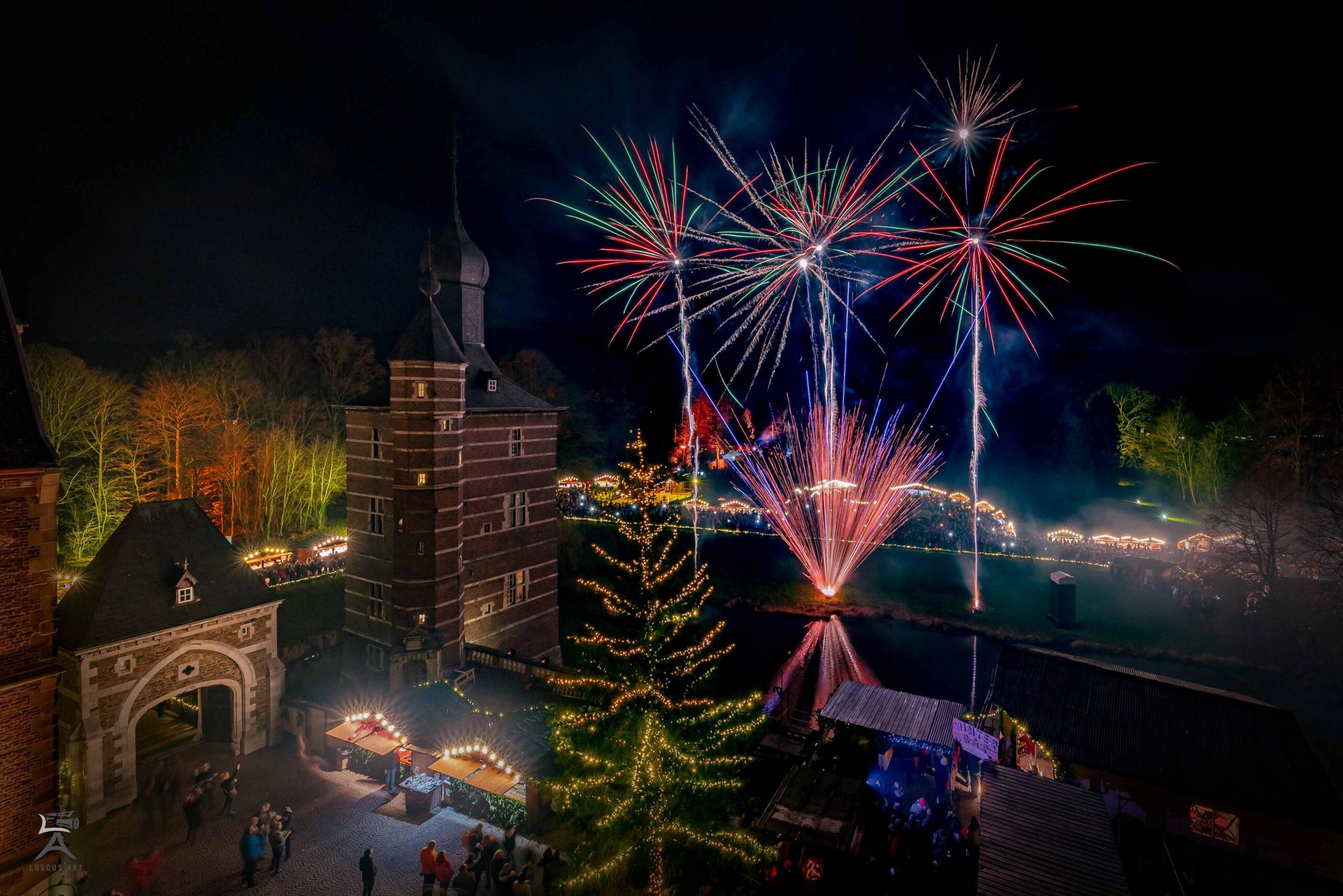Feuerwerk Weihnachtsmarkt Merode Fotografie