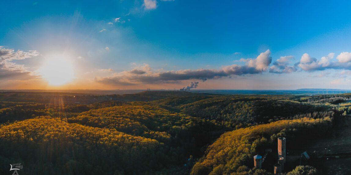 Laufenburg Sonnenuntergang Luftaufnahme Drohne